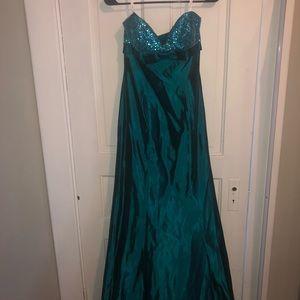Teal Jovani Prom Dress